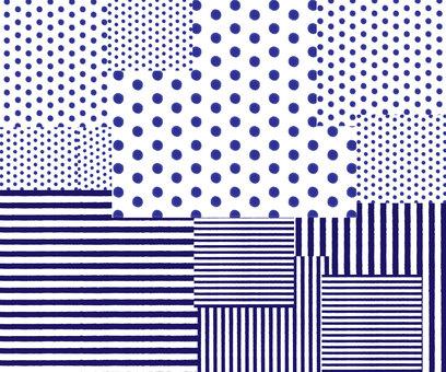 blue polka dot & amp; stripe