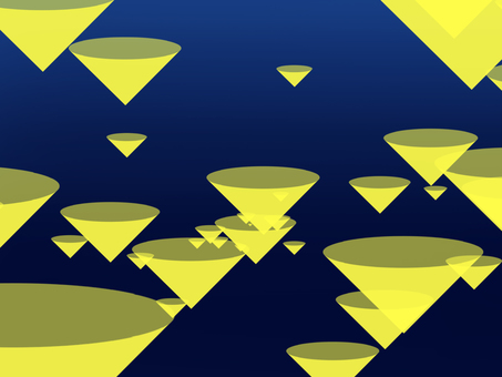 Conical pattern yellow