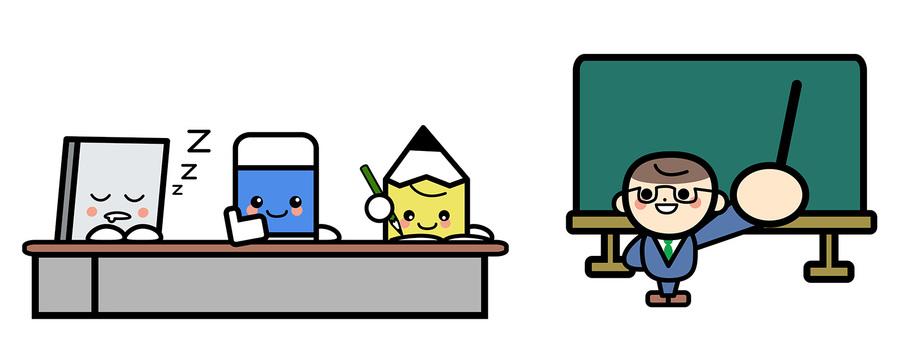 Simple classroom scenery