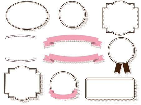 Frame set with dot shadow ribbon