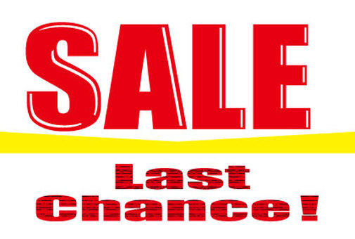 Sales promotion character of sale POP with last chance