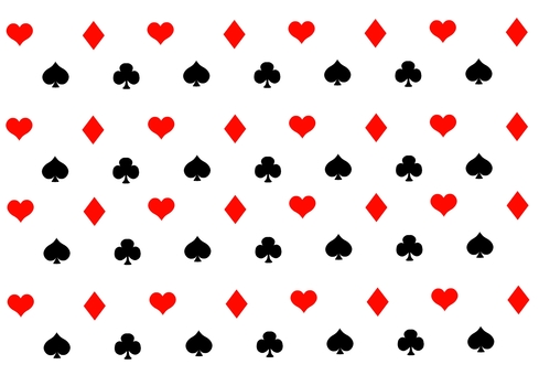 Playing card pattern background