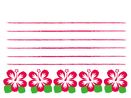 Hibiscus Stationery 1