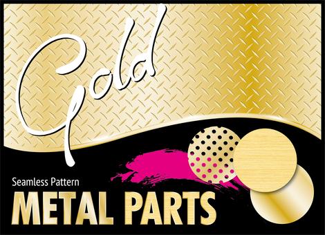 Gold metal parts