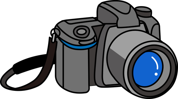 With camera strap