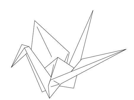Folding crane 1 (Kohaku crane)