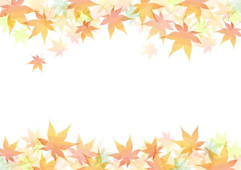 Autumn leaves frame side 2