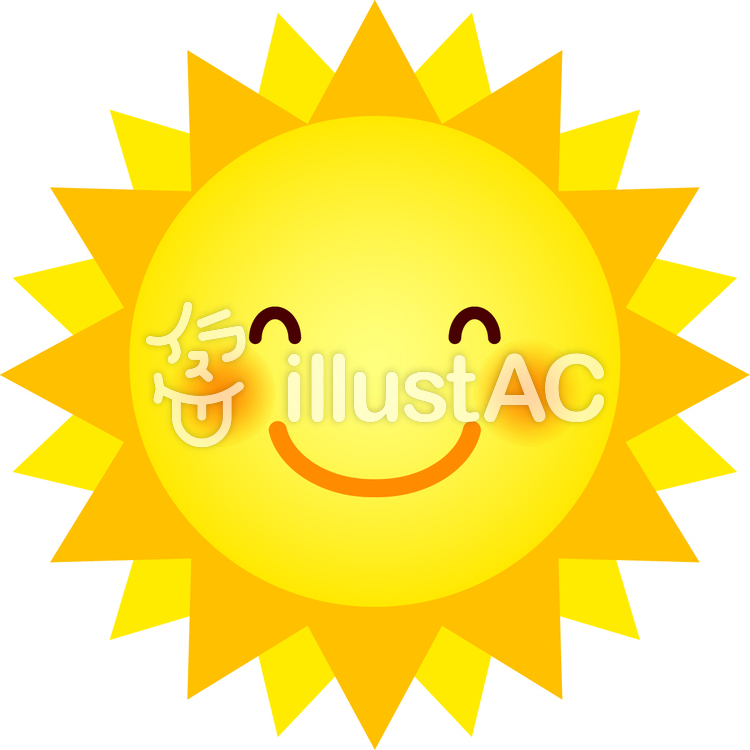 太陽表情d笑顔イラスト No 799743無料イラストなら