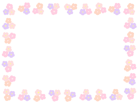 화화 프레임 (핑크 계열)