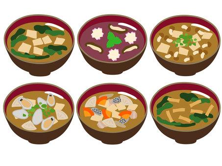 Miso soup soup set
