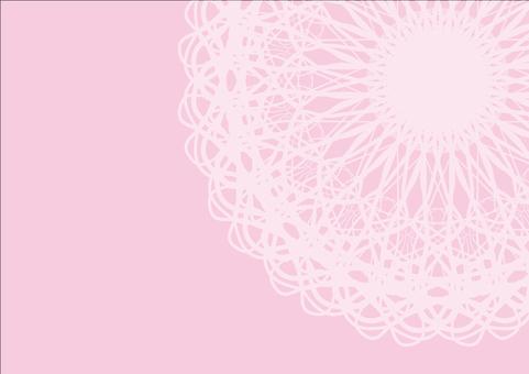 卡花邊卡粉紅色
