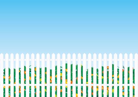 Gardening fence fence white