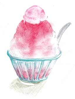 Strawberry shaved ice