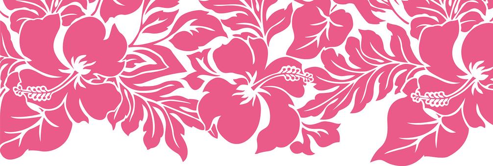 Aliba pattern of hibiscus