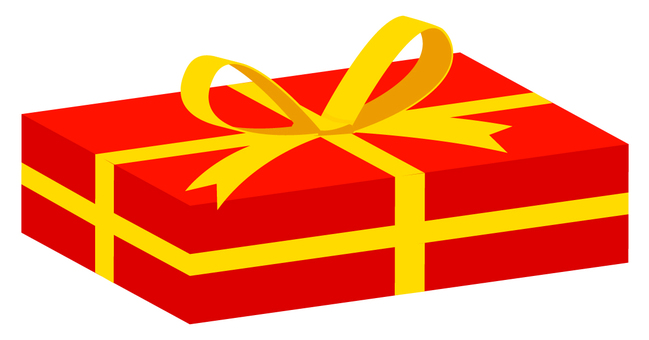 Present box rectangle (solid) red