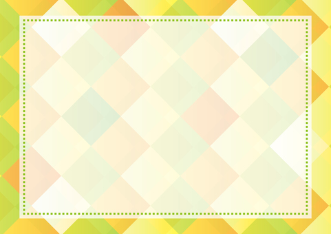Green and yellow decorative frame