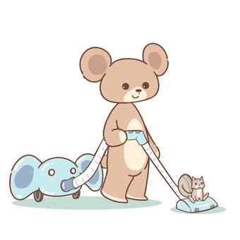 곰과 청소