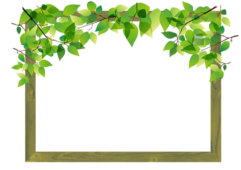 Fresh green picture frame
