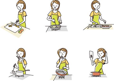 요리를하는 여성 -02