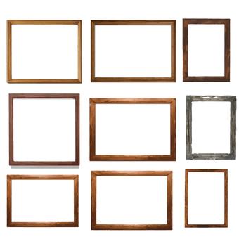 Picture frame set wood grain