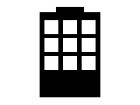 Building silhouette icon rooftop