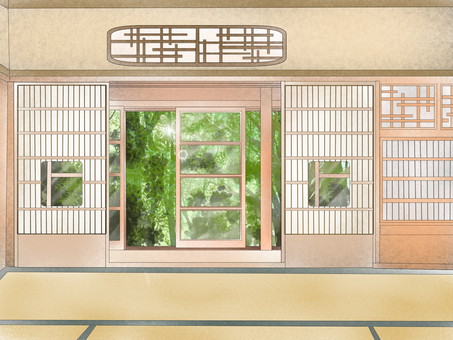 Japanese style light room with garden