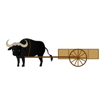 Water buffalo and cart