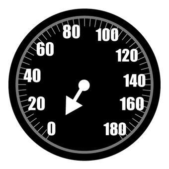 Car speedometer (memory 0 position)