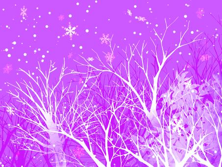 Winter landscape (purple)