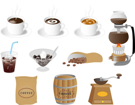 A set of coffee materials