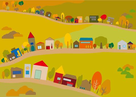 Suburb landscape Fall