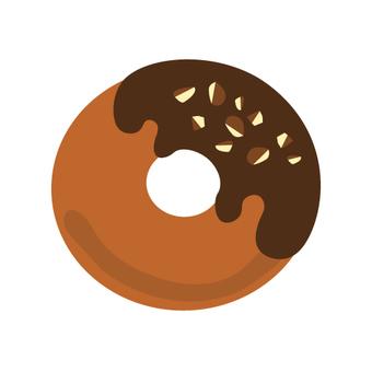 Chocolate & amp; nuts glue donuts