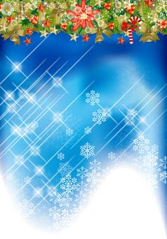 Christmas wreath & snow 34