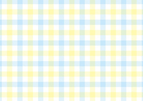 Gingham <pastel yellow × light blue>