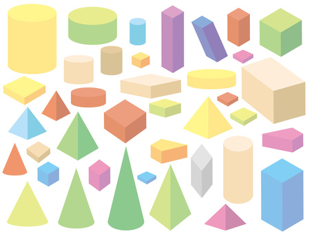 Pastel building blocks
