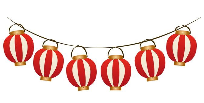 6 festival lanterns