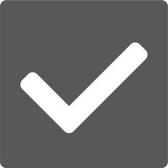 Simple check box (black)