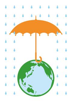 Earth and umbrella _ 0006