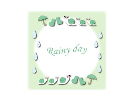 Rainy season frame