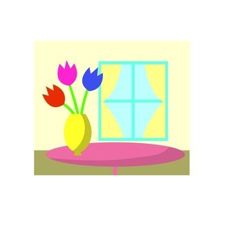 Tulip icon on the window