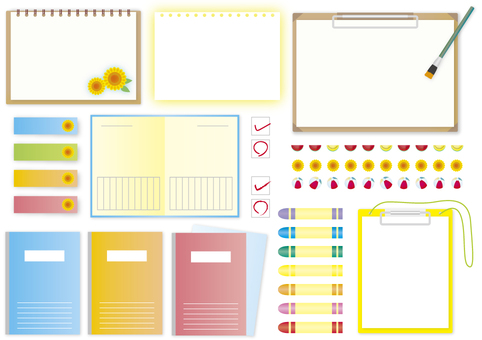 Stationery in summer