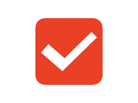 Check box square red