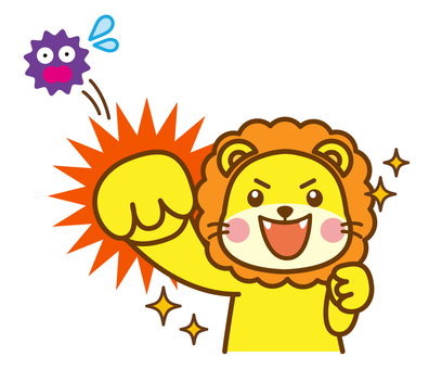 Virus fight lion