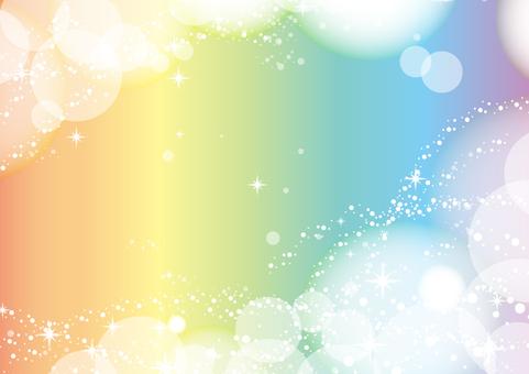 A rainbow-colored fantastic frame