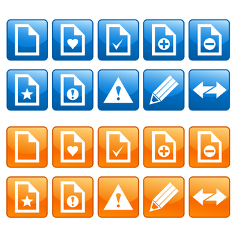 Various document and pencil icon set