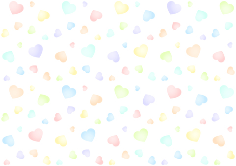 Colorful heart background