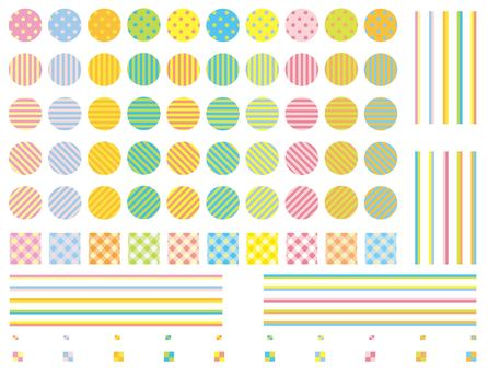 Pop style swatch pattern set