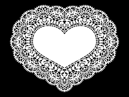 Heart lace paper