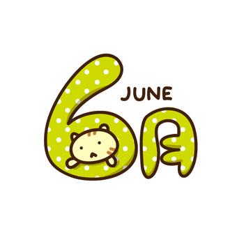 6 월의 일러스트 로고