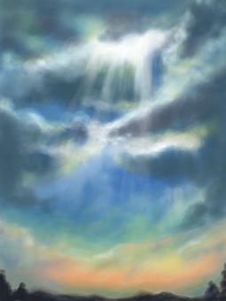 背景天使梯子